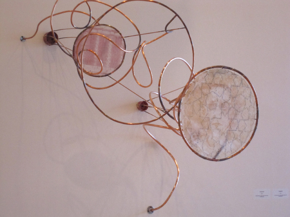 """Listening: Receive"" • multi-pate etching with copper tubing • 2010"